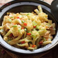 干锅松花菜的做法