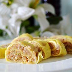 鸡蛋肉末卷