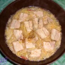 酸菜粉条汆白肉的做法