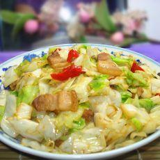 包菜炒回锅肉的做法