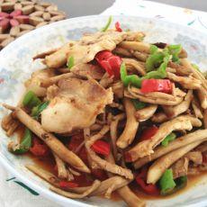 茶树菇炒肉片