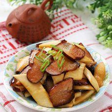 熏腊肉炒杏鲍菇