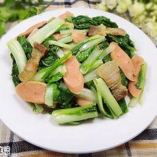 腊肉火腿炒白菜的做法