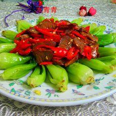 腊肉蔬菜盘