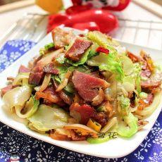 腊肉炒芥菜疙瘩