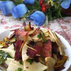 鲜笋炒腊肉的做法