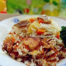 腊肉土豆菜饭的做法