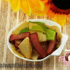 腊肉青椒土豆片的做法