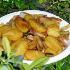 腊肉炒土豆仔的做法