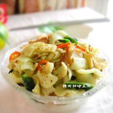 武汉小吃之腊肉枯炒豆丝的做法
