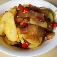 腊肉土豆片的做法