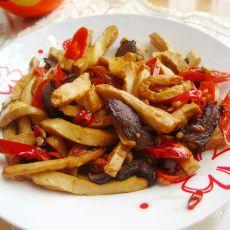 腊肉炒五香豆腐的做法
