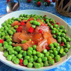 青豆炒腊肉