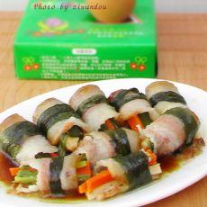 腊肉韭菜卷