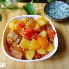 腊肉番茄炒土豆