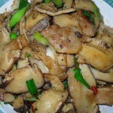 香菇炒腊肉片