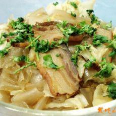 白菜粉皮炖腊肉