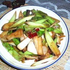 腊肉炒大蒜的做法