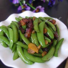腊肉炒甜豆