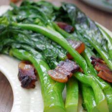 清甜爽脆的芥蓝炒腊肉的做法