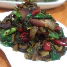 豉香酸菜炒腊肉