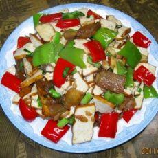 腊肉炒豆腐干的做法