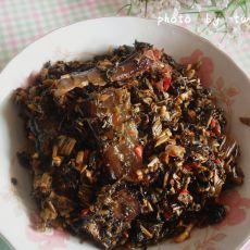 蒲蕹菜炒腊肉