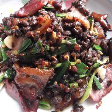 豆豉炒腊肉的做法