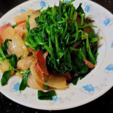 腊炒豌豆尖的做法