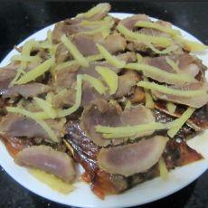 姜丝腊肉蒸鱼干的做法
