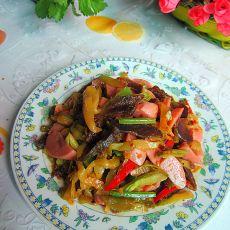 腊肉火腿炒榨菜