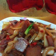 洋葱豆豉炒腊味