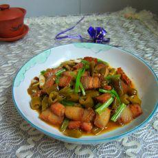 酸辣椒炒腊肉的做法