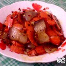 腊肉炒胡萝卜