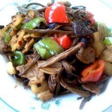 腊肉茶树茹的做法