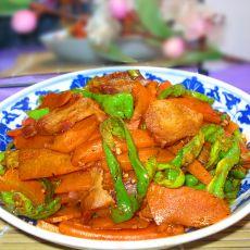 胡萝卜炒腊肉