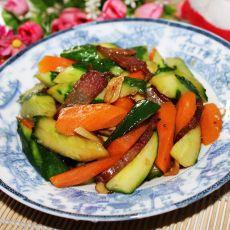腊肉炒青瓜