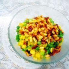 松仁腊肉炒青豆的做法