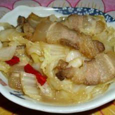 腊肉炒白菜的做法