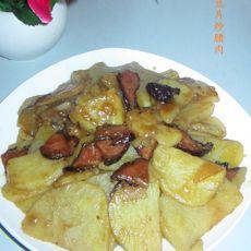 土豆片炒腊肉