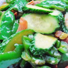 腊肉青椒黄瓜