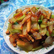 腊味香干炒莴笋的做法