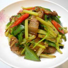 豆鼓芹菜炒腊肉