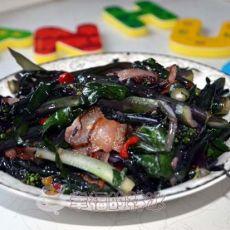 腊肉红菜苔――解思乡情的楚天名菜