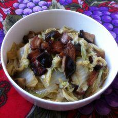 香菇白菜炒腊肉
