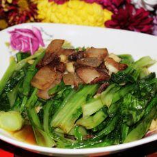 腊肉炒油麦菜的做法