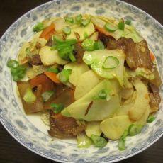 菜头冬笋炒腊肉的做法