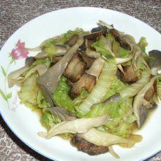 腊肉炒白菜平菇的做法