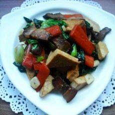 腊肉炒豆干的做法