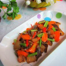 萝卜片烧腊肉